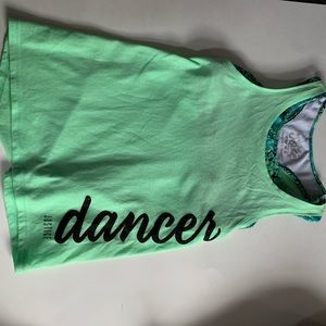 Justice dancer tank and sports bra